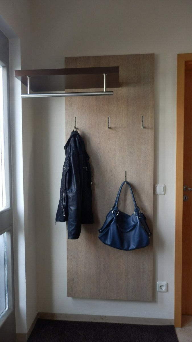garderobe hutablage edelstahl best massivholz garderobe mit hutablage cm wildeiche gelt hnge. Black Bedroom Furniture Sets. Home Design Ideas
